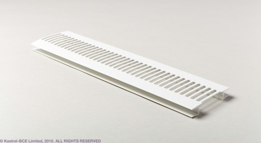 White Vented Soffit Strip
